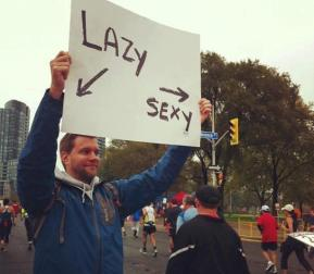 Awesome Race Signs: Lazy (this way) Sexy (that way)