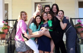 (here is my core HSV crew - plus a couple of other good friends - at KT's baby shower this past April! A fun crew for sure....)